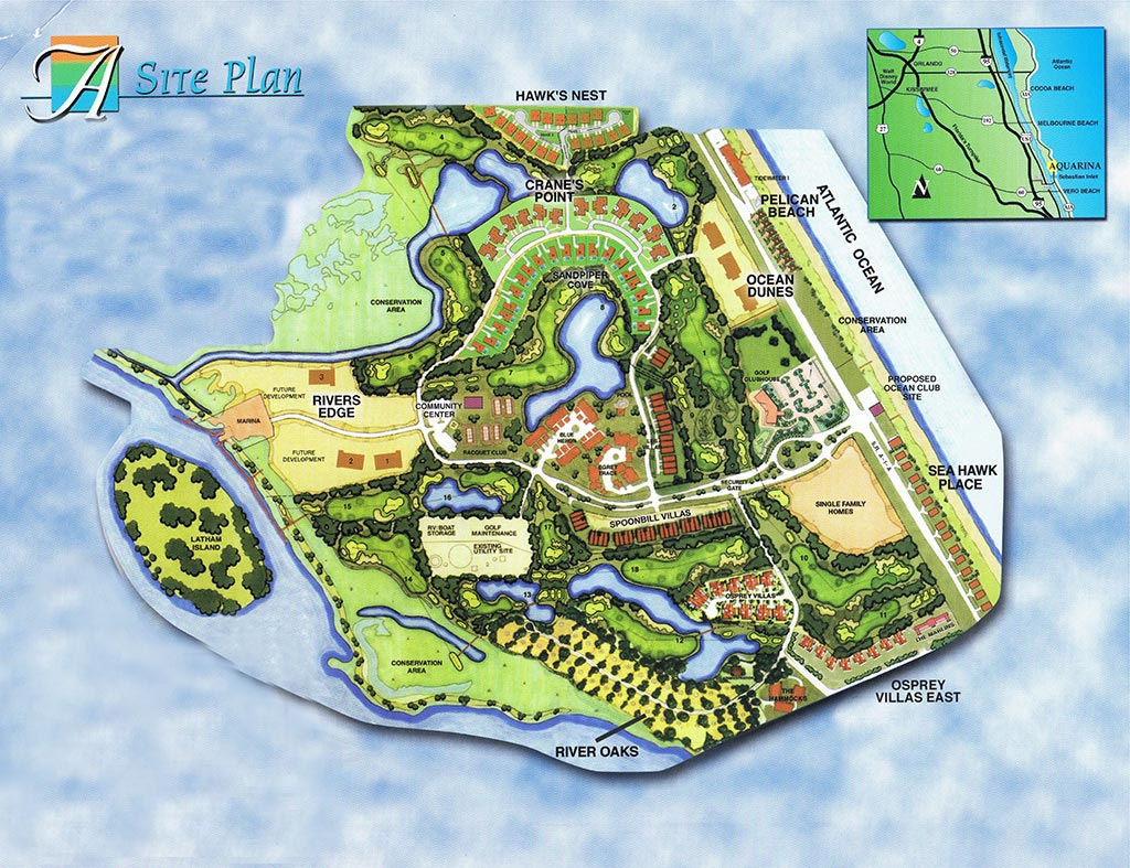 Aquarina Beach and Country Club Site Plan