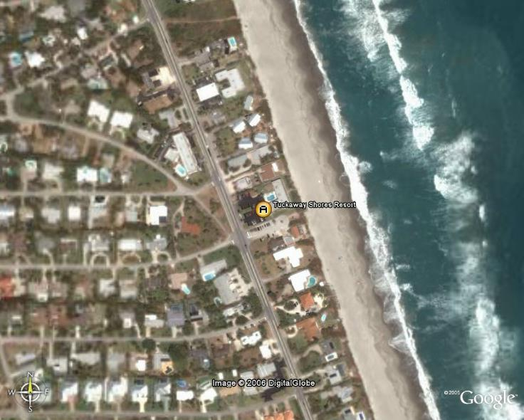 Satellite Photo Melbourne Florida Oceanfront